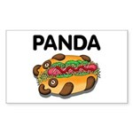 Panda Sticker (Rectangle 10 pk)