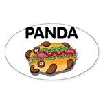 Panda Sticker (Oval 10 pk)
