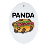 Panda Ornament (Oval)