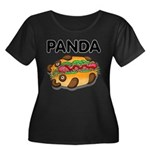 Panda Women's Plus Size Scoop Neck Dark T-Shirt