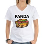 Panda Women's V-Neck T-Shirt