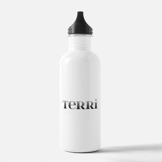 Terri Carved Metal Water Bottle