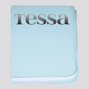 Tessa Carved Metal baby blanket