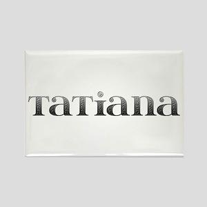 Tatiana Carved Metal Rectangle Magnet