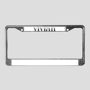 Vivian Carved Metal License Plate Frame