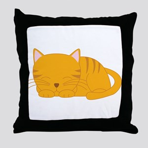 Orange Tabby Throw Pillow
