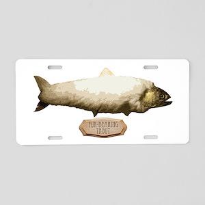 Fur-Bearing Trout Aluminum License Plate