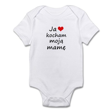 I love MY Mom (Polish) Infant Bodysuit