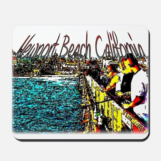 Newport beach pier fishing Mousepad
