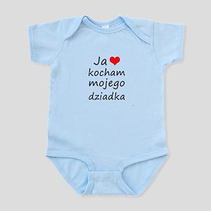 I love MY Grandpa (Polish) Infant Bodysuit