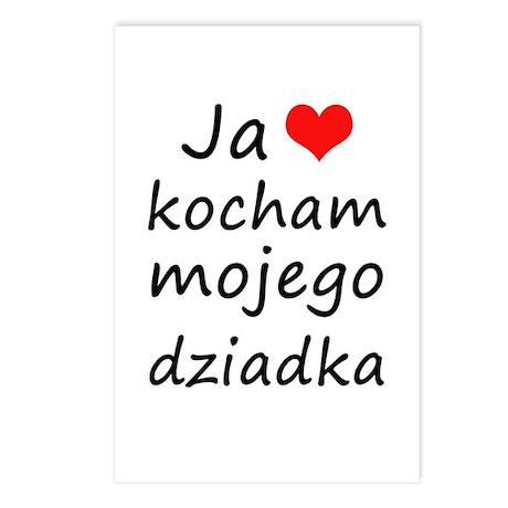 I love MY Grandpa (Polish) Postcards (Package of 8