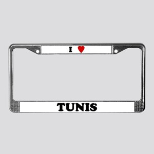 I Love Tunis License Plate Frame