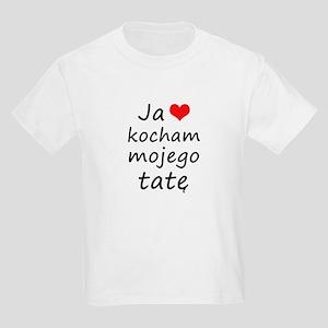 I love MY Dad (Polish) Kids Light T-Shirt