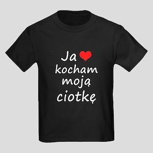 I love MY Aunt (Polish) Kids Dark T-Shirt