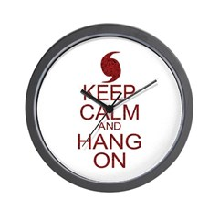 Hurricane Irene Keep Calm Parody Wall Clock