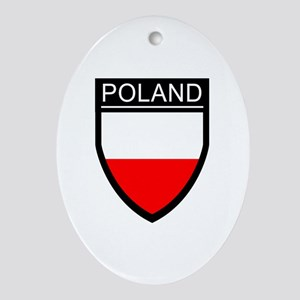 Poland Flag Patch Ornament (Oval)