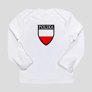 Poland (POLSKA) Patch Long Sleeve Infant T-Shirt