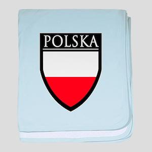 Poland (POLSKA) Patch baby blanket