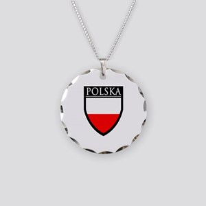 Poland (POLSKA) Patch Necklace Circle Charm