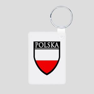 Poland (POLSKA) Patch Aluminum Photo Keychain