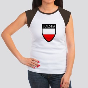 Poland (POLSKA) Patch Women's Cap Sleeve T-Shirt