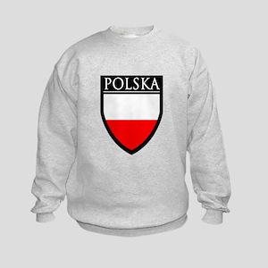 Poland (POLSKA) Patch Kids Sweatshirt