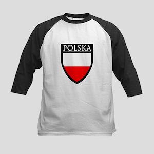Poland (POLSKA) Patch Kids Baseball Jersey