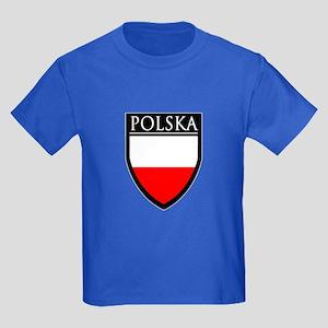 Poland (POLSKA) Patch Kids Dark T-Shirt
