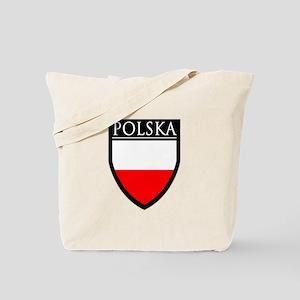 Poland (POLSKA) Patch Tote Bag