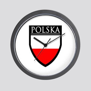 Poland (POLSKA) Patch Wall Clock