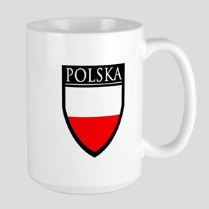 Poland (POLSKA) Patch Large Mug