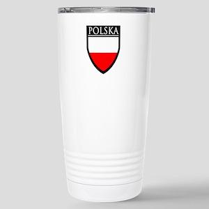 Poland (POLSKA) Patch Stainless Steel Travel Mug
