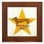 SuperStar Dog Framed Tile