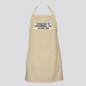 Someone in Alhambra BBQ Apron