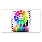 Color chart Sticker (Rectangle 10 pk)