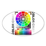Color chart Sticker (Oval 10 pk)