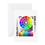 Color chart Greeting Card