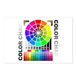 Color chart Postcards (Package of 8)