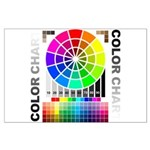 Color chart Large Poster