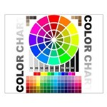 Color chart Small Poster