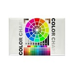 Color chart Rectangle Magnet