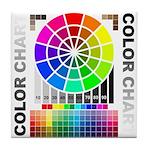 Color chart Tile Coaster