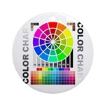 Color chart Ornament (Round)
