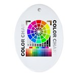 Color chart Ornament (Oval)