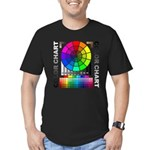 Color chart Men's Fitted T-Shirt (dark)