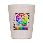 Color chart Shot Glass