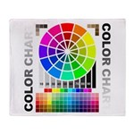 Color chart Throw Blanket