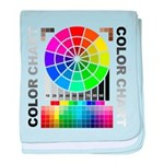 Color chart baby blanket