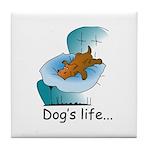 Dog's Life Tile Coaster