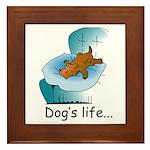 Dog's Life Framed Tile